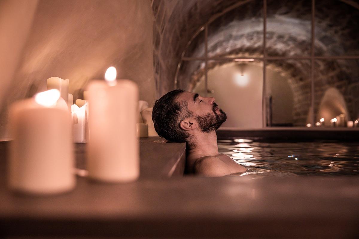 Des bains d'eau chaude